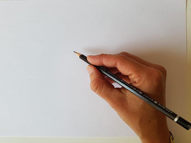 Position correcte pour tenir son crayon