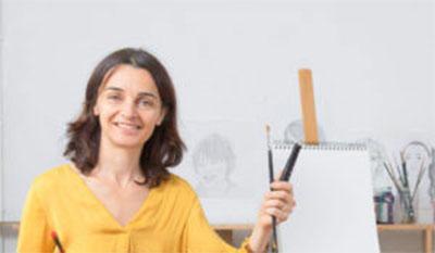 Valérie vous parle de ce qu'elle fait quand elle dessine