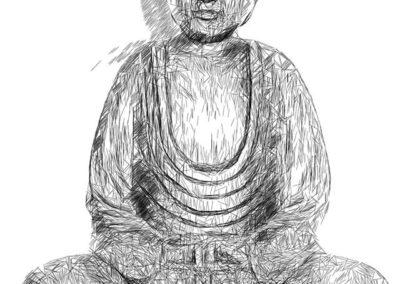 Dessin bouddha