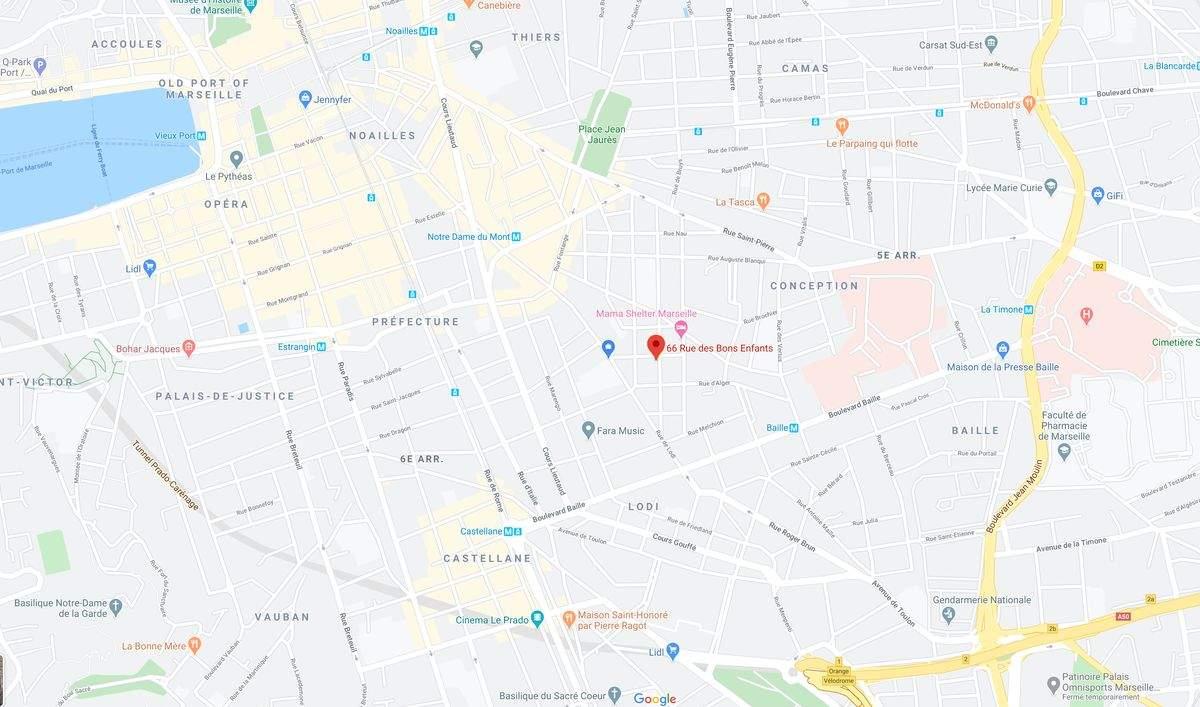 Plan adresse